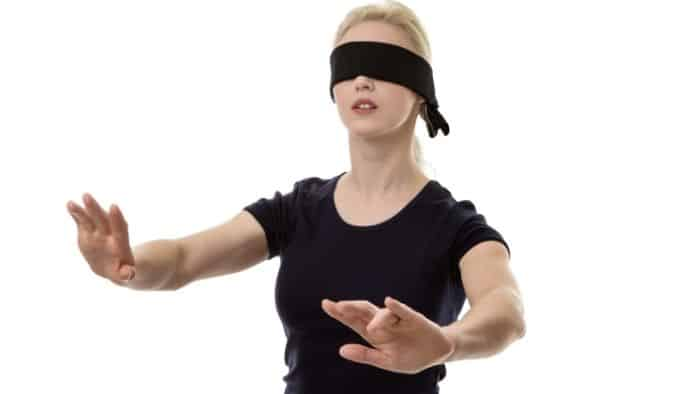 blindfold obstacle course