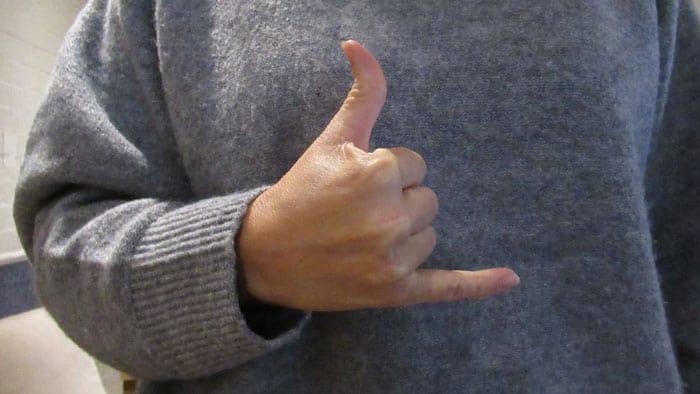 call me - shaka hand sign