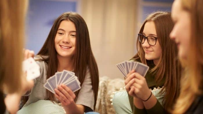 hobbies for teenage girls playing cards