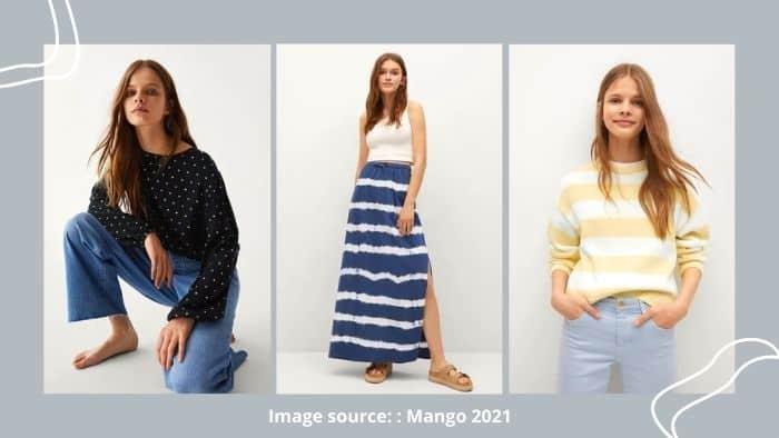 Mango online store for tweens