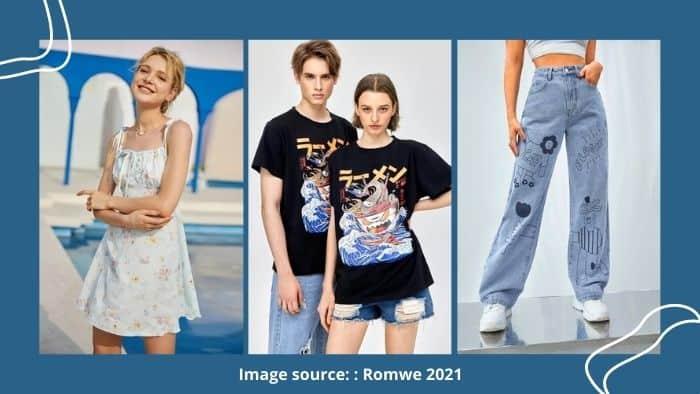 Romwe teen shopping online