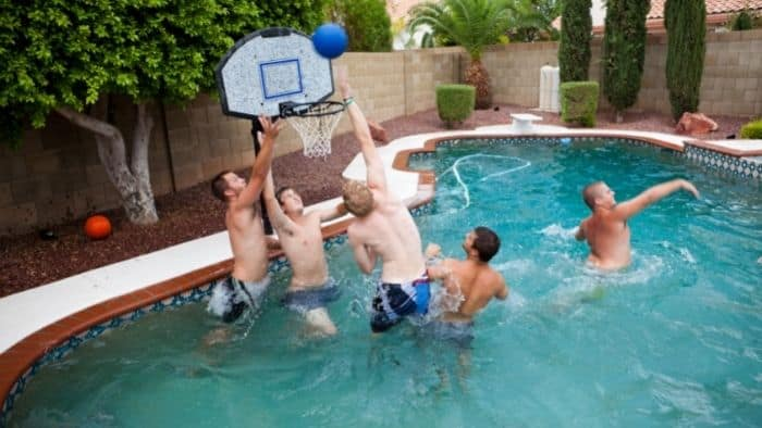 swimming pool basketball