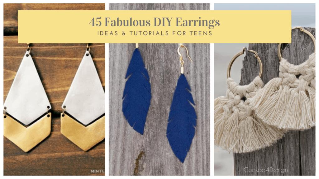 DIY earrings ideas & tutorials