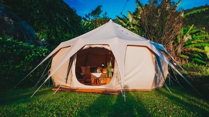 first date ideas for teens - backyard camping