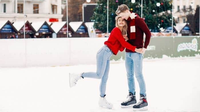 first date ideas for teens - ice skating