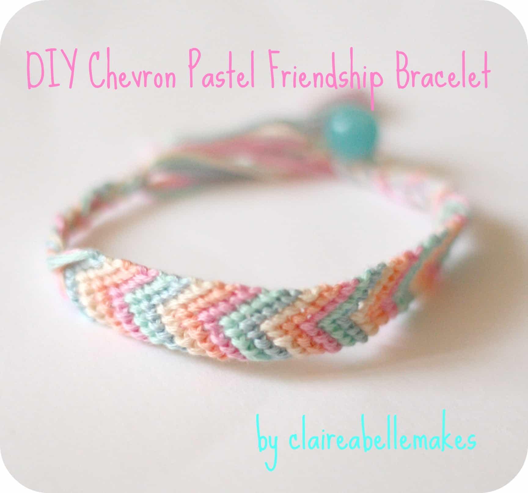 DIY chevron bracelet