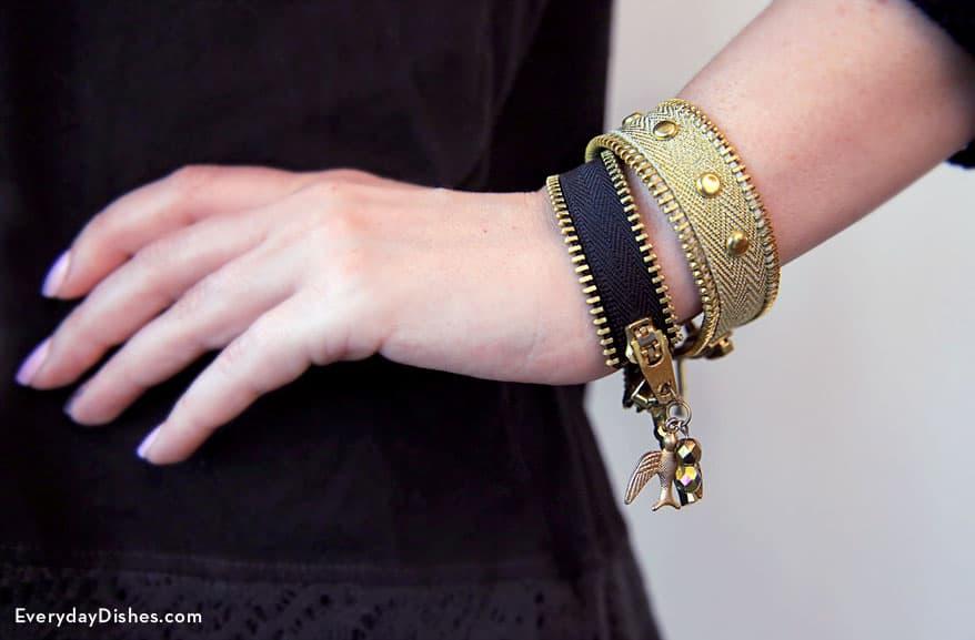 zipper diy bracelets