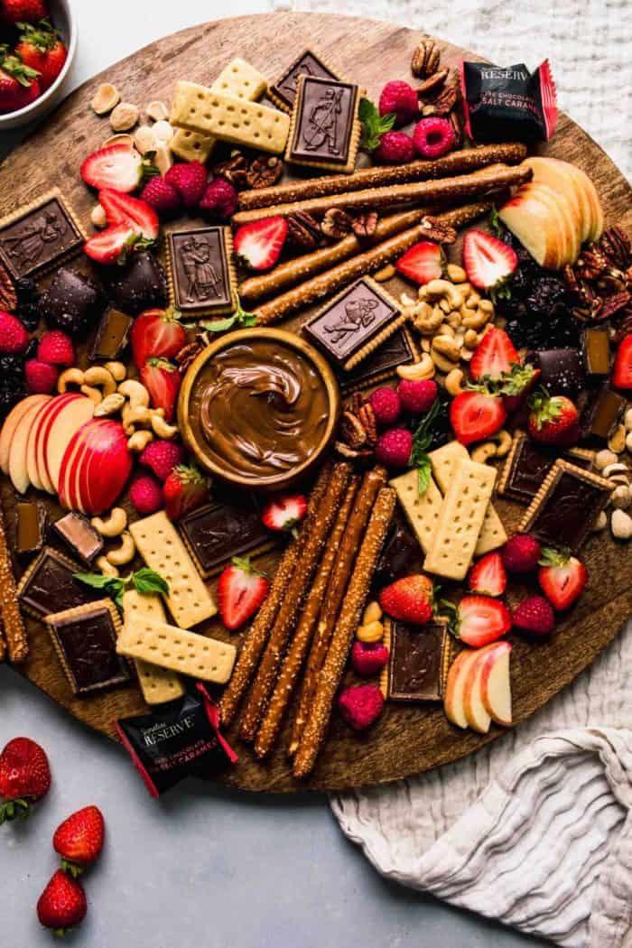 movie night sweets platter