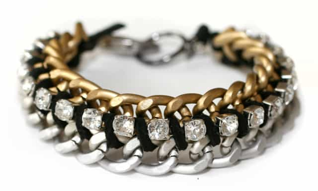chain and rhinestone bracelet
