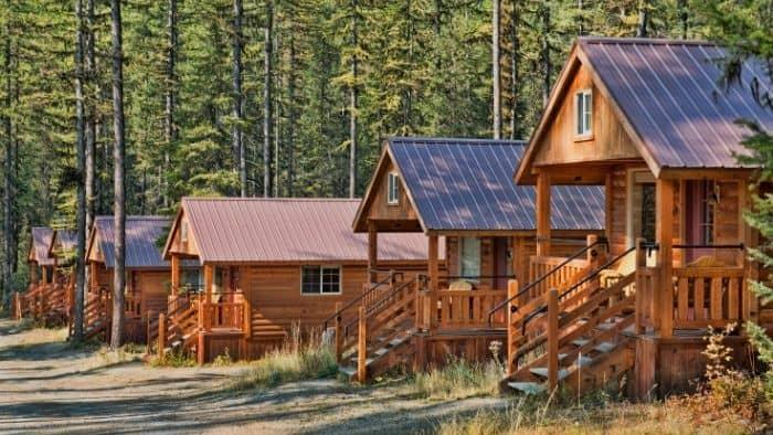 log cabin summer holiday