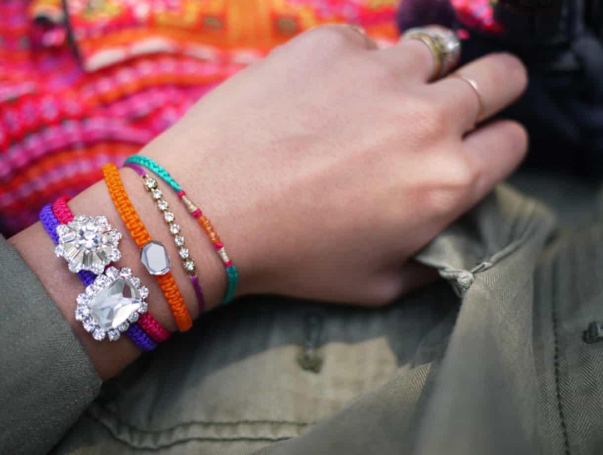 macrame diy bracelet