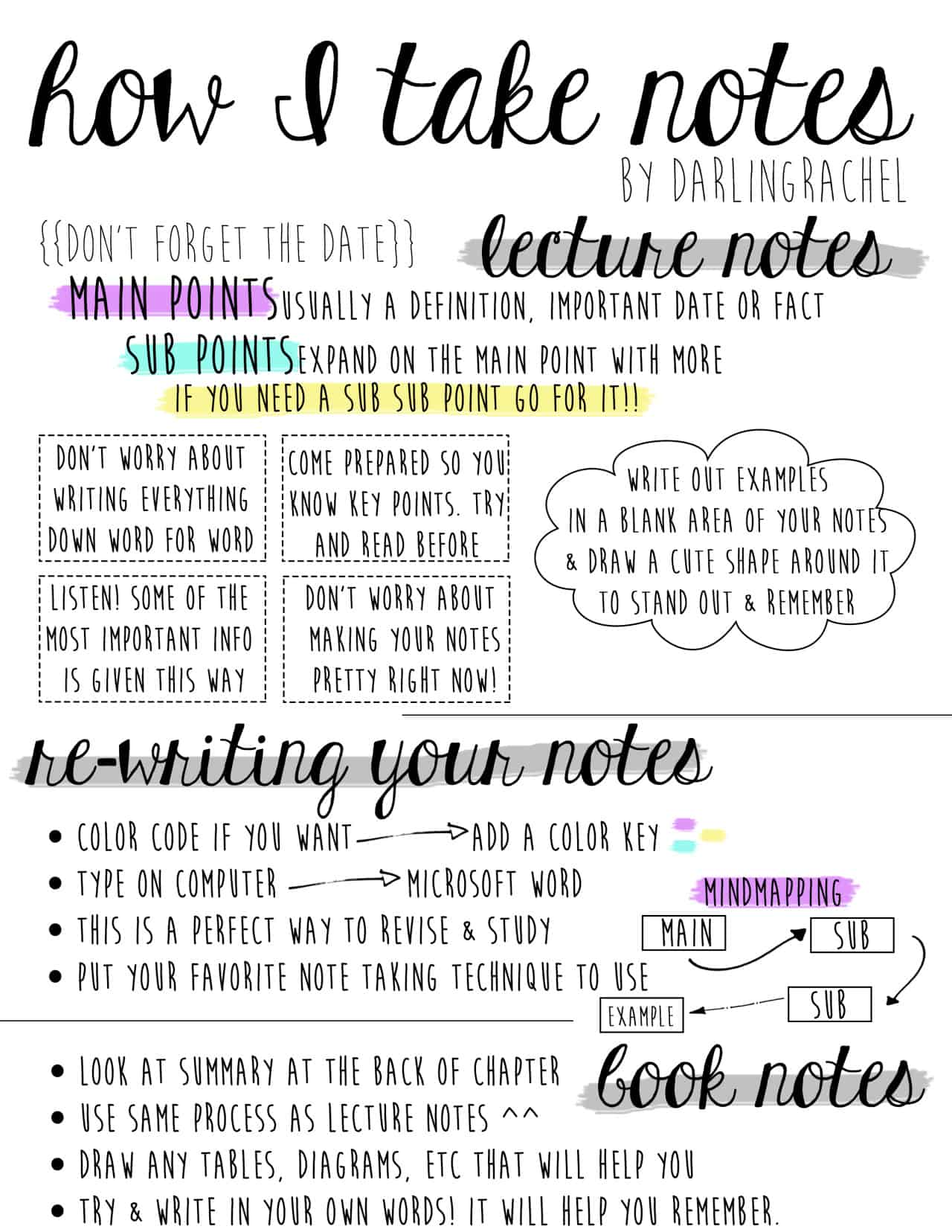 How To Take Notes Life Hack
