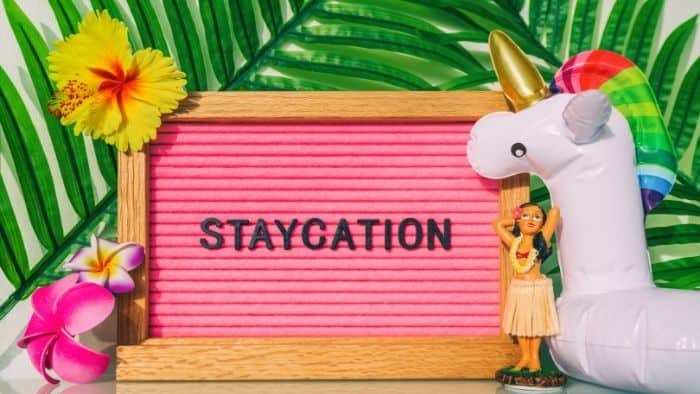 staycation summer holiday