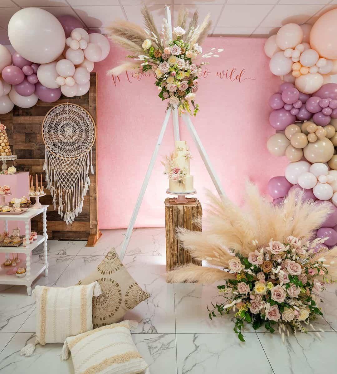boho pink theme