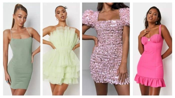 Missguided short party dresses