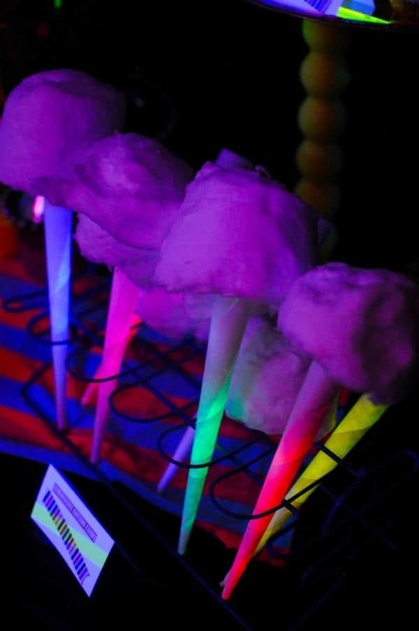 glowing cotton candy