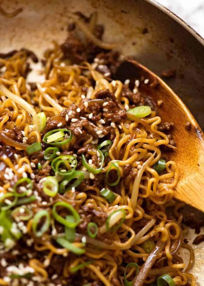 Quick Asian Beef Ramen Noodles