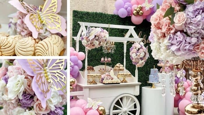 butterfly theme sweet 16 party