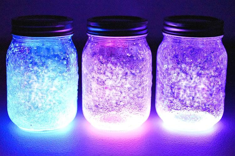 DIY glitter lanterns