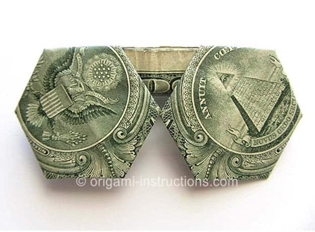 Dollar Bill Origami Sunglasses