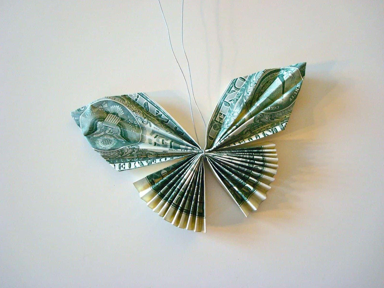 dollar bill butterfly origami lei