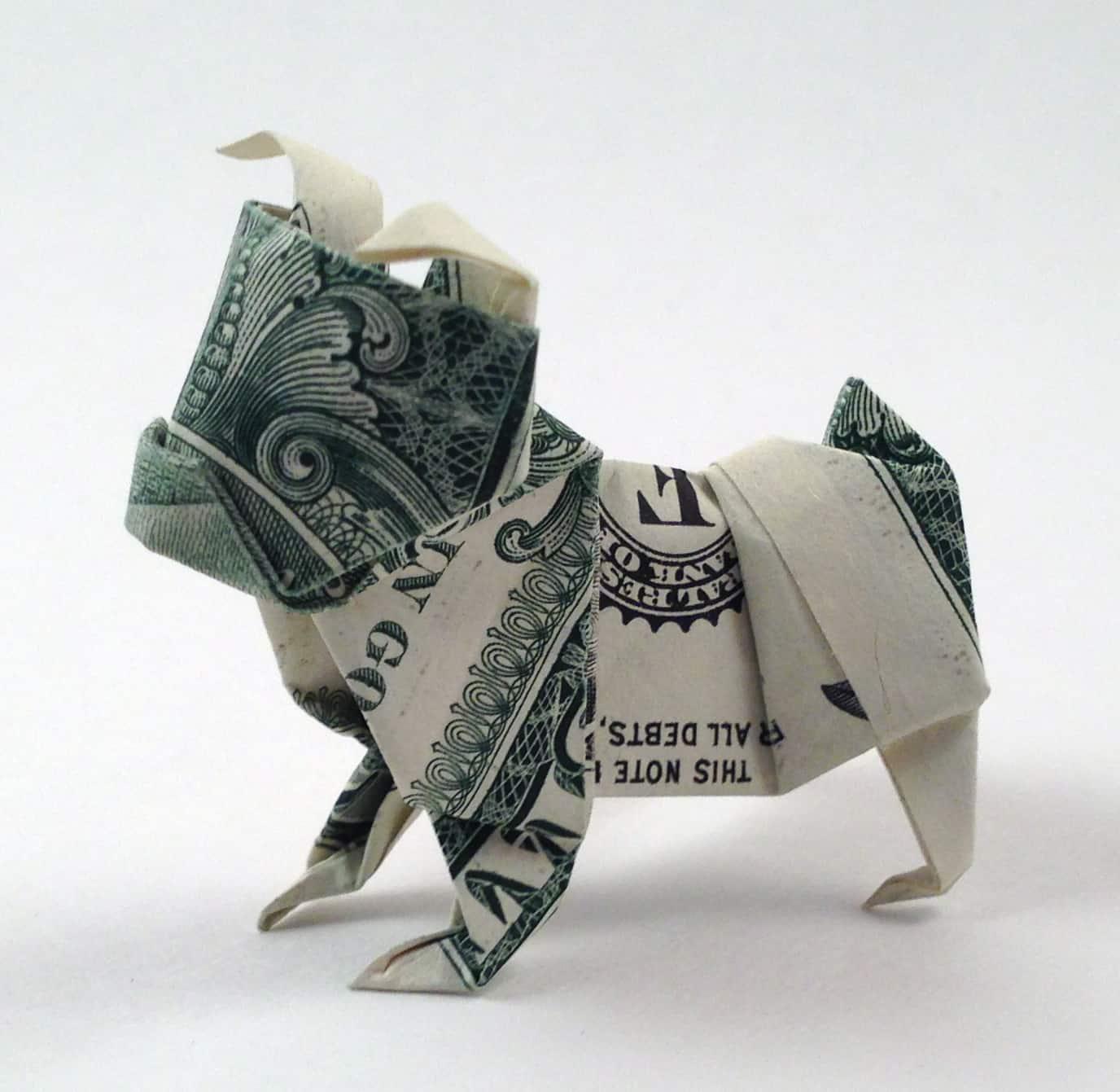 Dollar Bulldog Origami