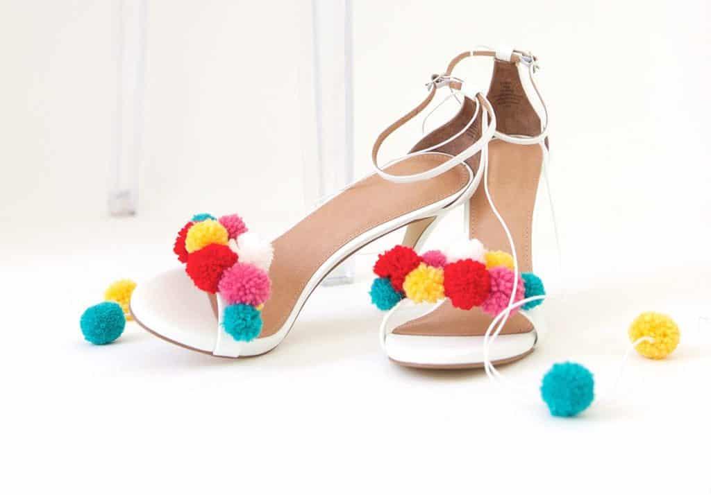 pop pom sandals