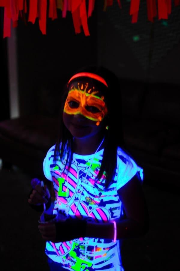neon tshirt decorating