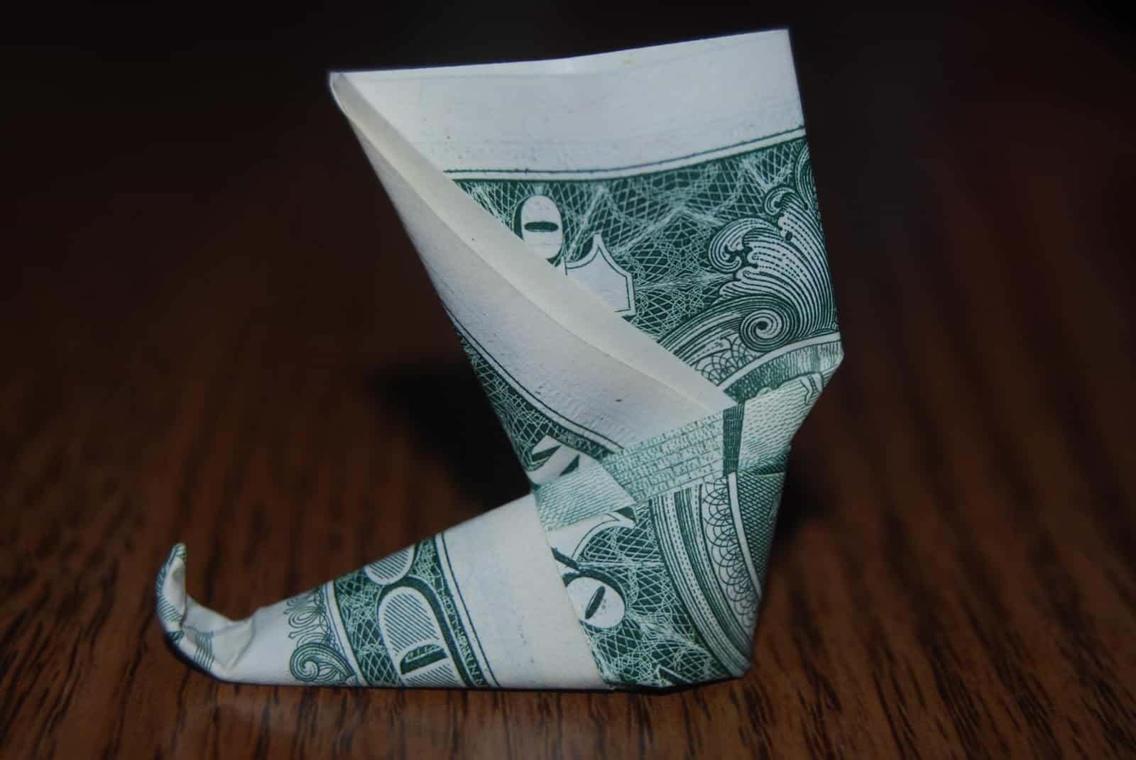 Origami Money Pixie Shoe