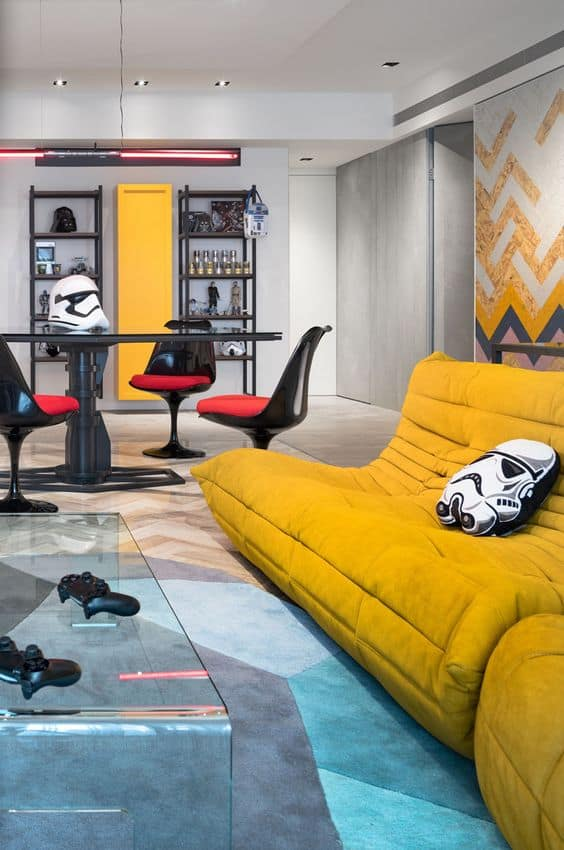 star wars themed hangout room