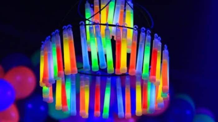 DIY glowstick chandelier
