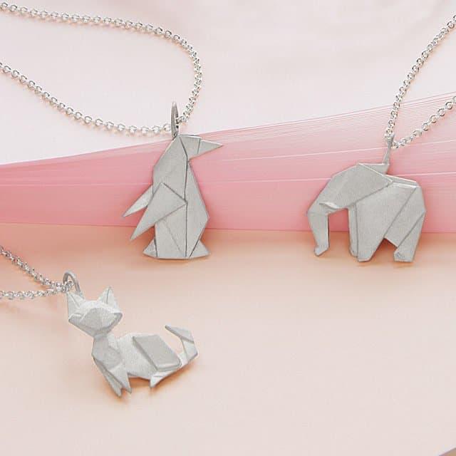 elephant origami jewelry