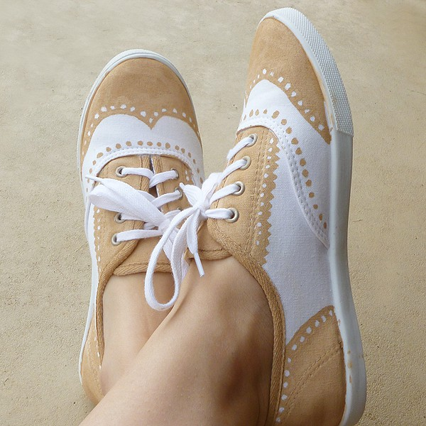 DIY Faux Painted Oxford Shoes