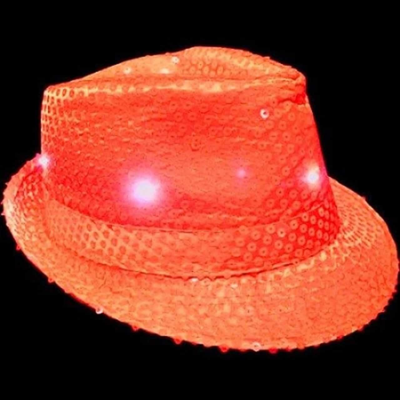 orange light up fedora