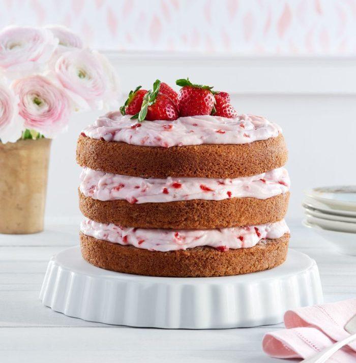 Strawberry Limeaid cake