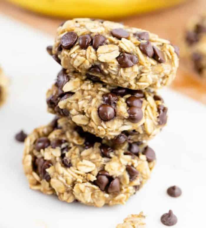 Three Ingredient Banana Oatmeal Cookies