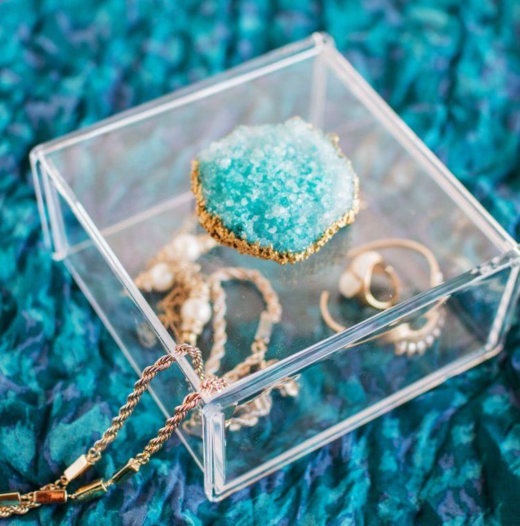 DIY Crystal Geode Jewelry Box