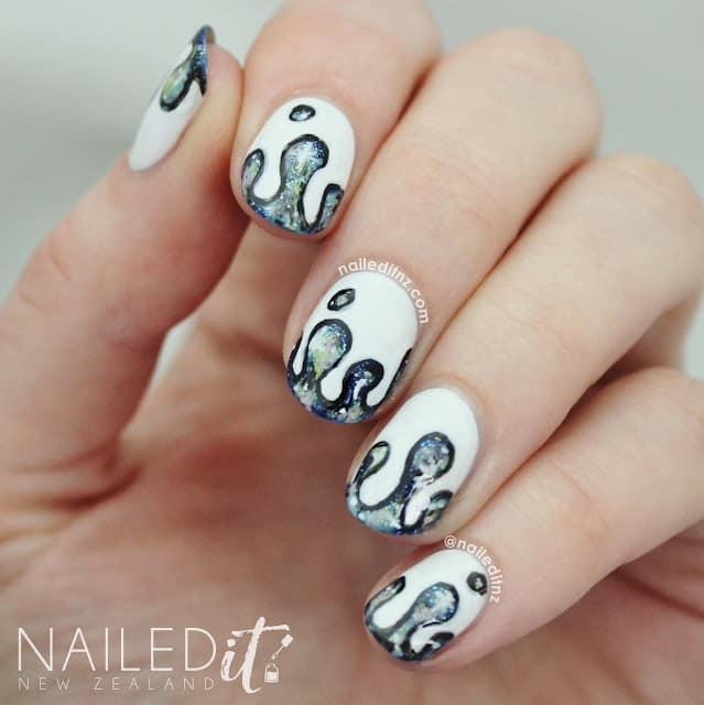 Dripping Galaxy Nails