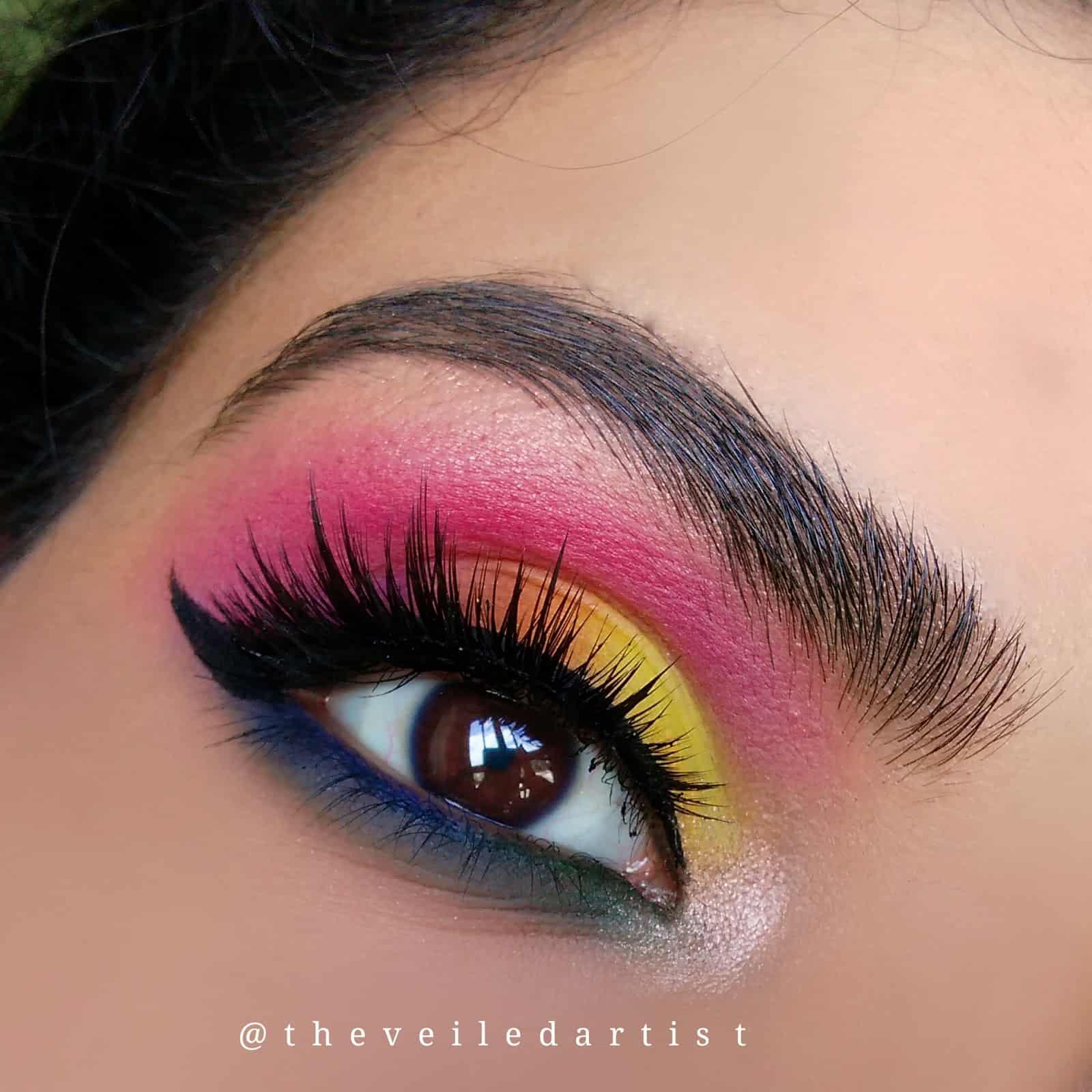 Rainbow Inspired Smokey Eye Shadow Look