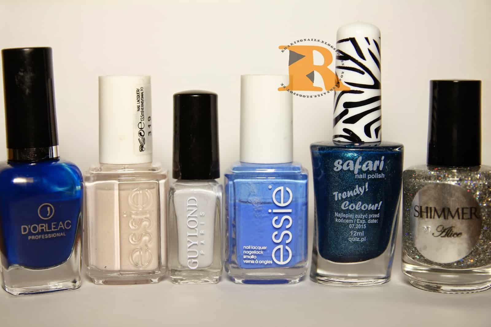 blue galaxy nail tutorial