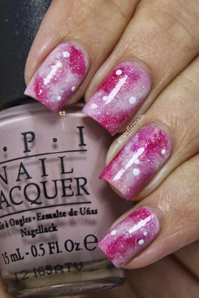 Pink Galaxy Nails