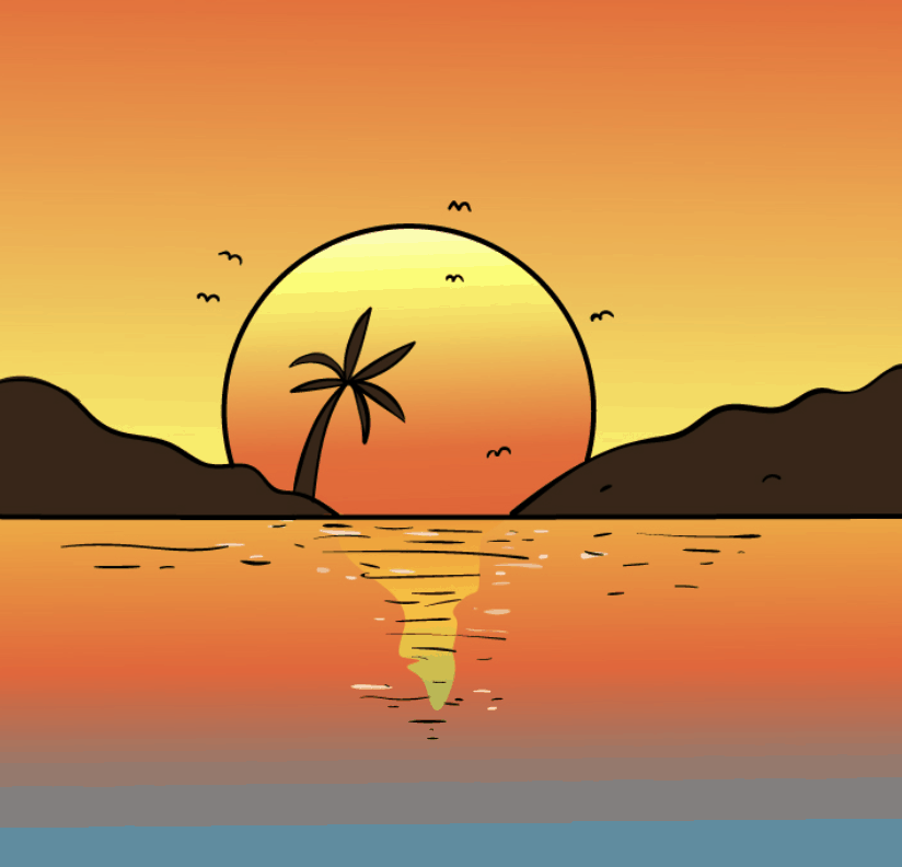 How To Draw A Sunset