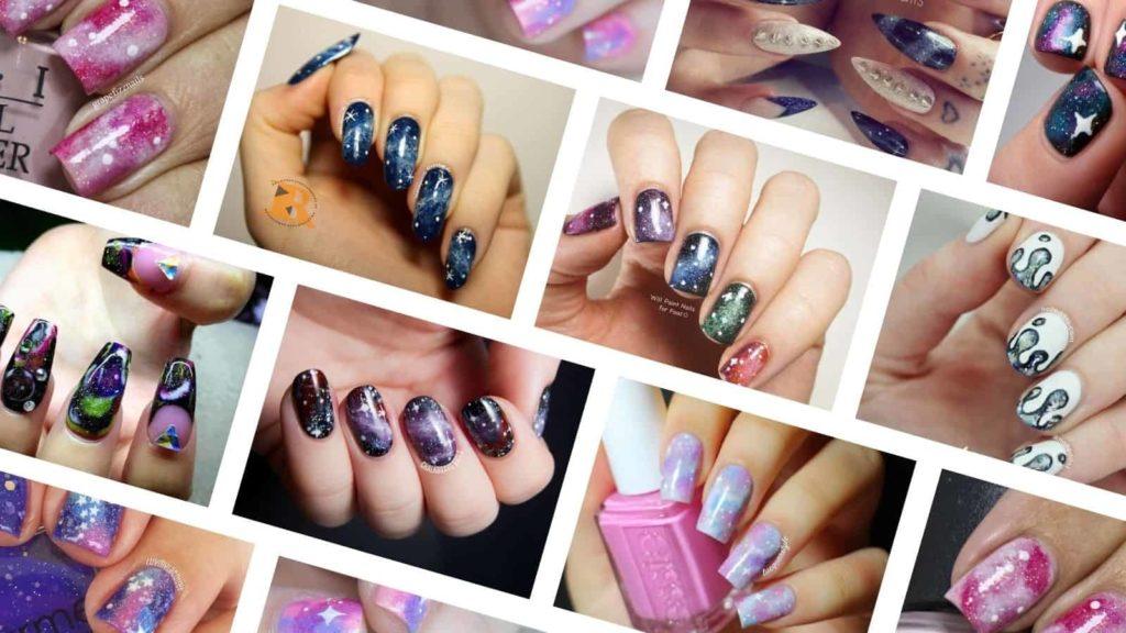 DIY galaxy nail tutorials