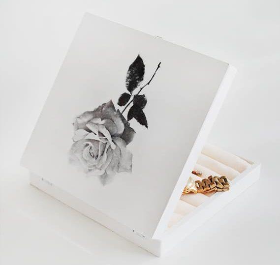 vintage rose DIY jewelry box