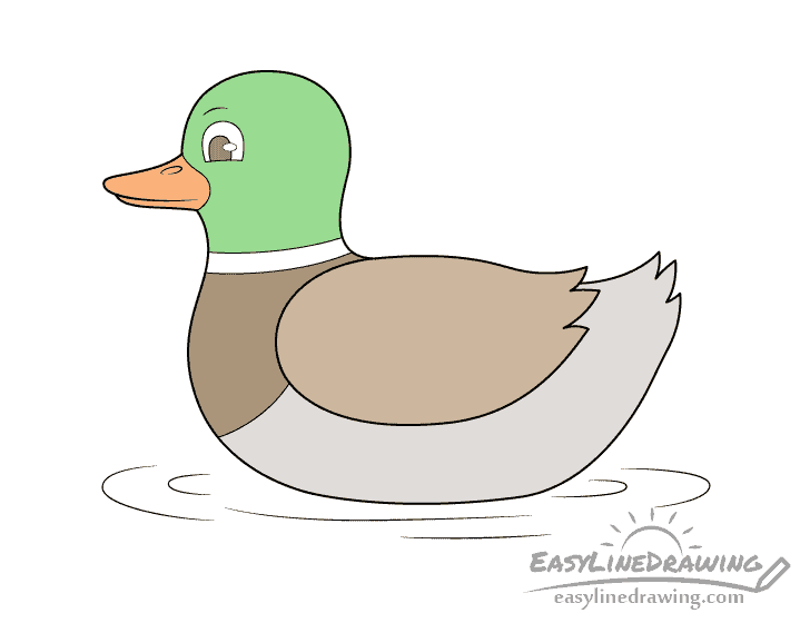 How To Do An Easy Duck Drawing