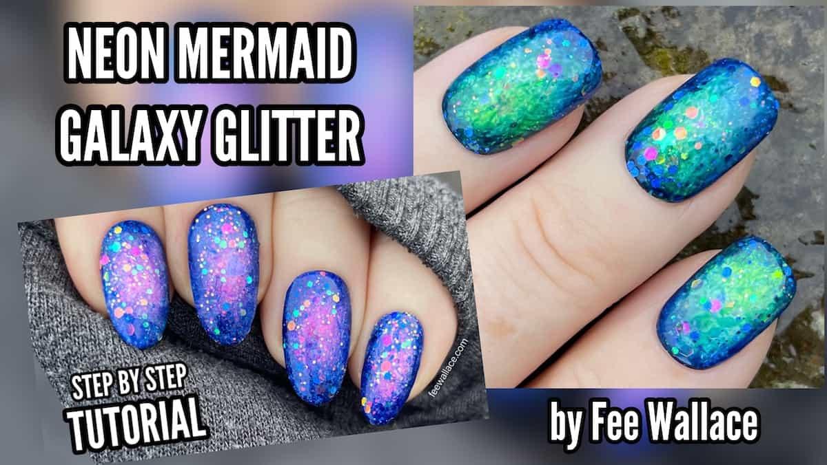 Neon Mermaid Galaxy Glitter