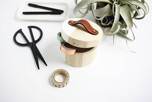 DIY Leather Handle Jewelry Box