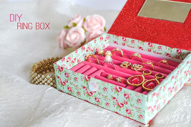 DIY floral ring box