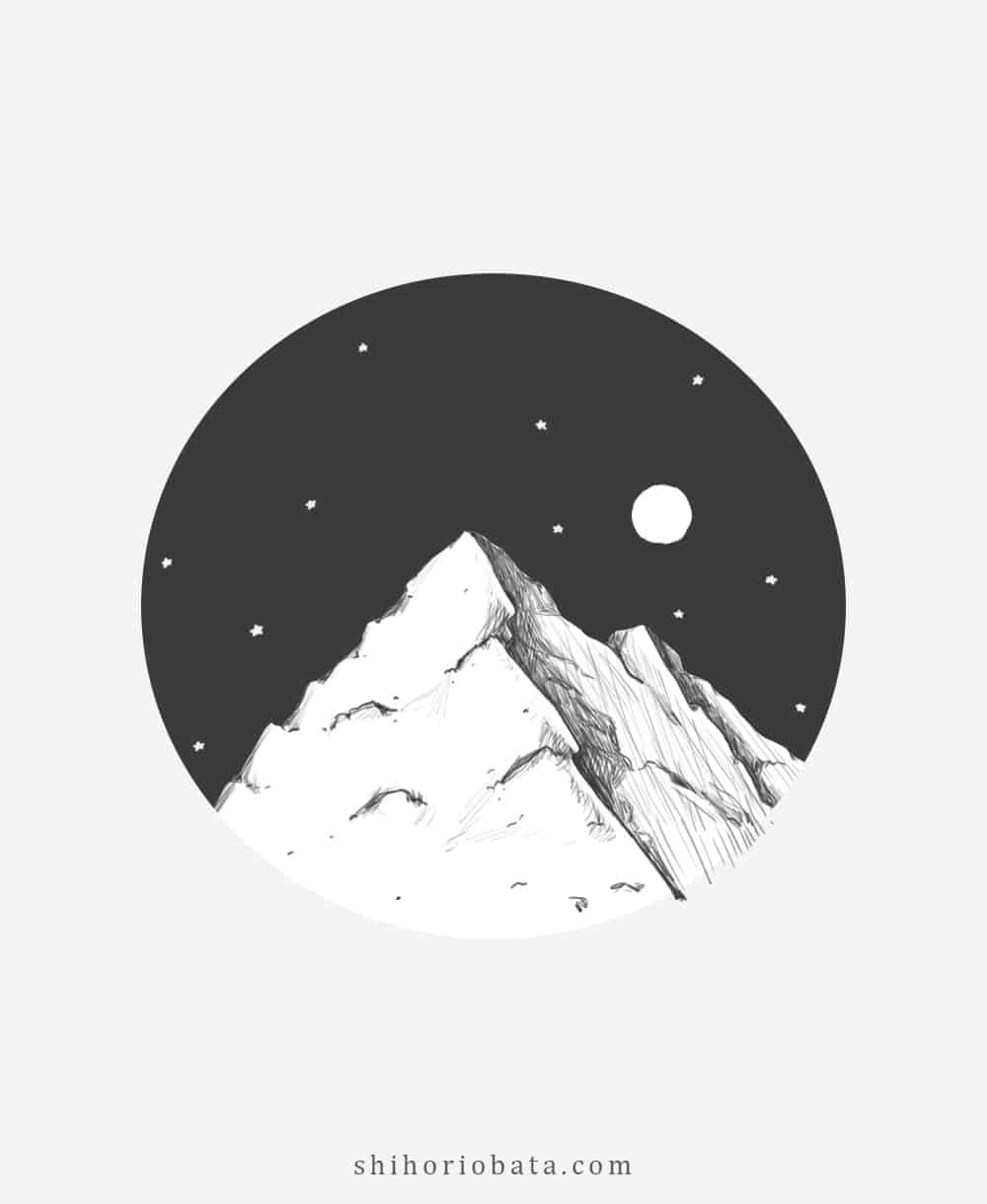 How To Draw A Mountain