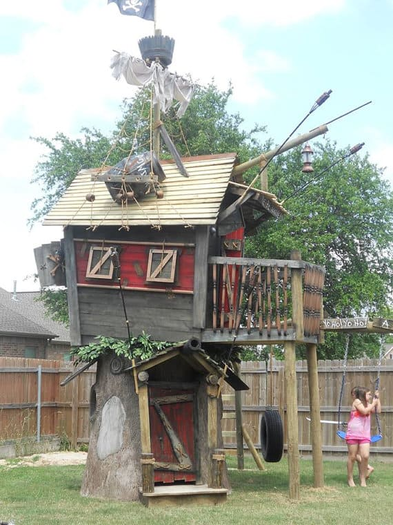 pirate themed treehouse